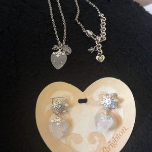 Brighton Heartflake/Snowflake Necklace/Earring Set